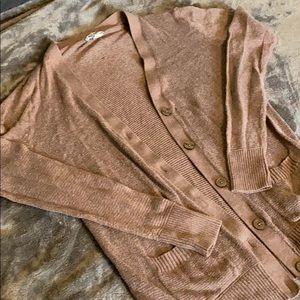 Old Navy | Brown Lightweight Long Cardigan